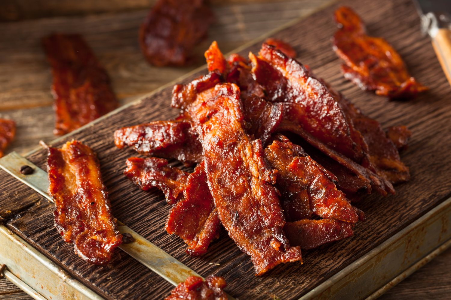 2 Ways On How To Make Bacon Jerky Sweet Lady Cook